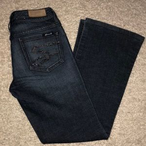 Seven 7 Jeans Size 27 Flare Dark Jeans